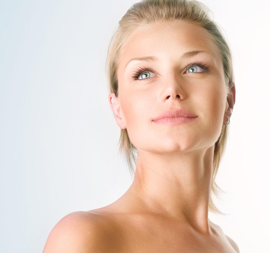 Beautiful girl - skin care