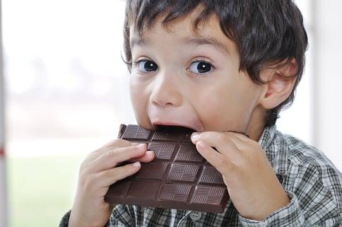 Little cute kid eating chocolate-1