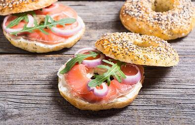 bigstock-Homemade-Bagels-With-Salmon---231193930 - Copy